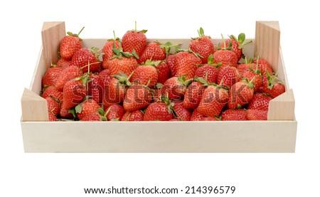 Fresh strawberries in strawberry basket - stock photo