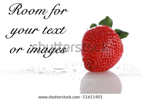 fresh strawberries isolated on white with room for your text or images