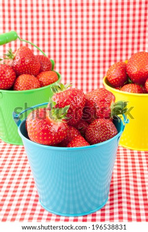 Fresh strawberries on the table - stock photo