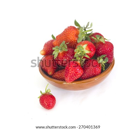 Fresh strawberries  on white  - stock photo