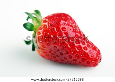 Fresh strawberries on white background