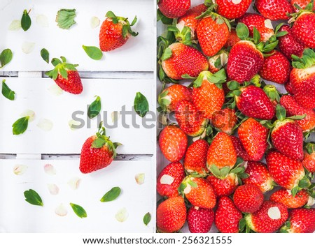 Fresh strawberries. Organic fruits. - stock photo