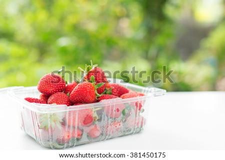 fresh strawberry.  - stock photo