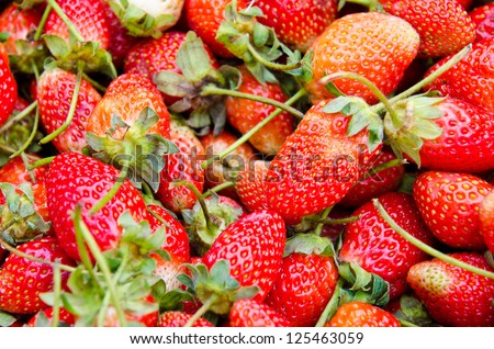Fresh strawberry at the market, Thailand.