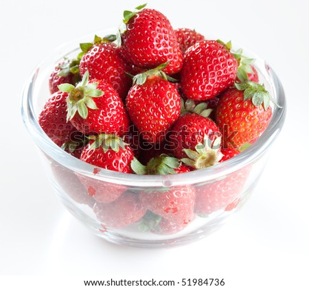 Fresh strawberry in a cup