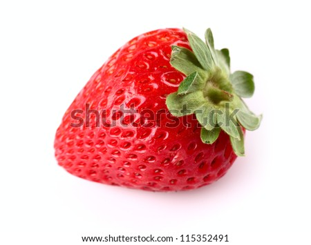 Fresh strawberry in closeup - stock photo