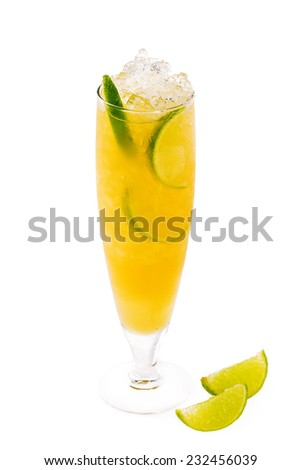 fresh summer cocktail with lime - stock photo