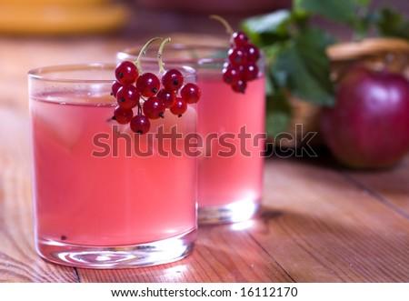 Fresh summer vitaminous beverage - stock photo
