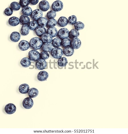 Fresh sweet blueberry fruit. Dessert healthy food. Group of ripe blue juicy organic berries. Raw summer diet. Delicious nature vegetarian ingredient. Isolated on white background.