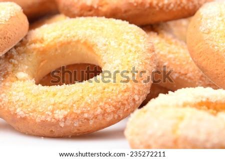 fresh sweet homemade bagels  - stock photo