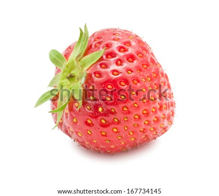 Fresh sweet strawberry isolated on white background