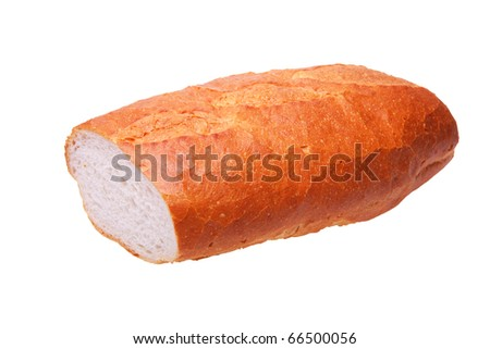 Fresh tasty bread wheat isolated on a white background
