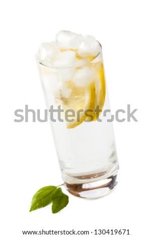 fresh tasty lemonade - stock photo