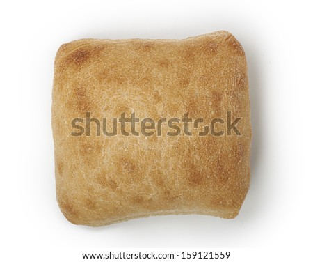 Fresh tasty little bread, isolated on white background