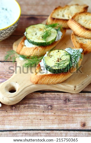 Fresh toast with cheese, delicious food - stock photo
