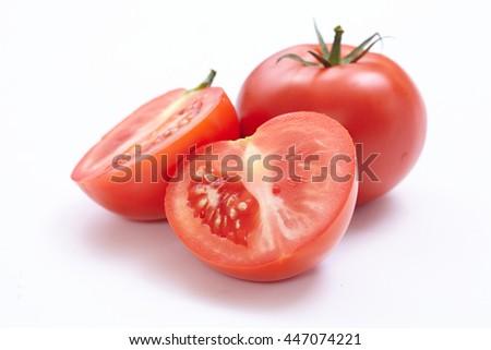 fresh tomato - stock photo