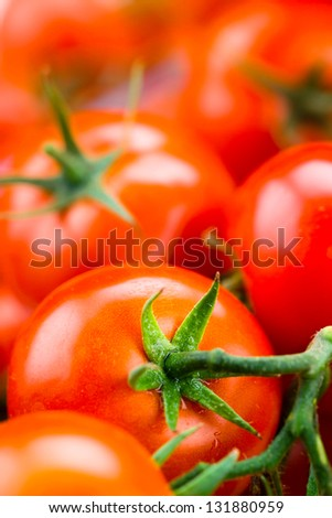 fresh tomatoes background. Macro - stock photo