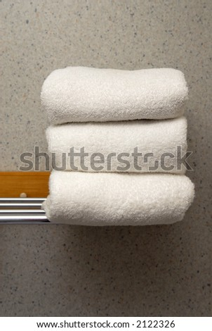 fresh towels - stock photo