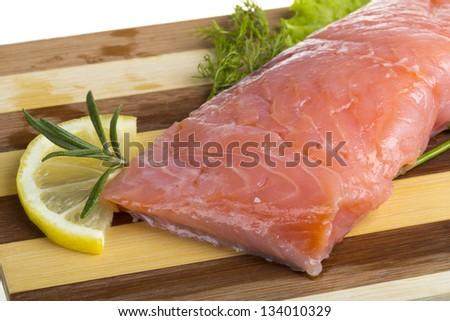 fresh trout fillet - stock photo