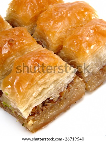 fresh turkish sweet isolated at white background