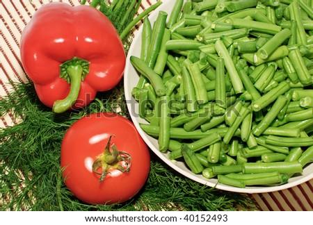 Fresh various vegetables - stock photo