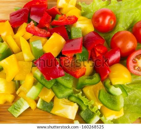 Fresh vegetable cuts - stock photo