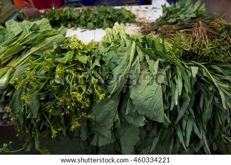 Fresh vegetable in the market place - stock photo
