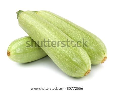 Fresh vegetable marrow. Isolated on white - stock photo