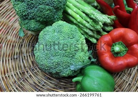 Fresh vegetable on the background - stock photo
