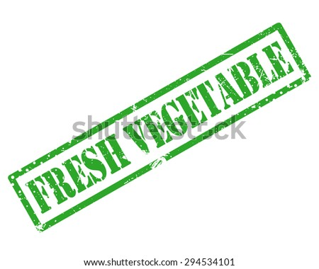 Fresh vegetable rubber stamp - stock photo