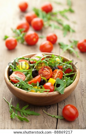 fresh vegetable salad - stock photo