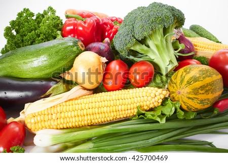 fresh vegetables - stock photo