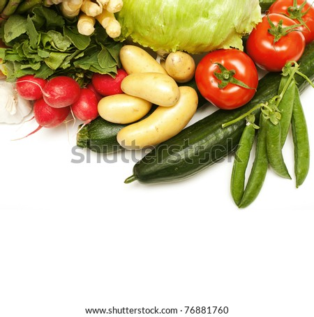 fresh vegetables and empty space for your text