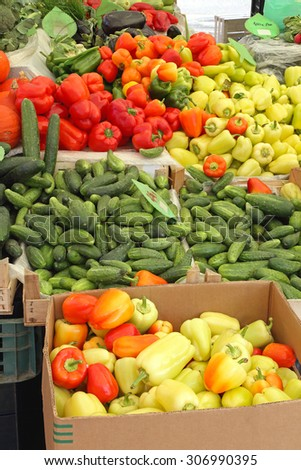 Fresh Vegetables at Farmers Market in Slovenia