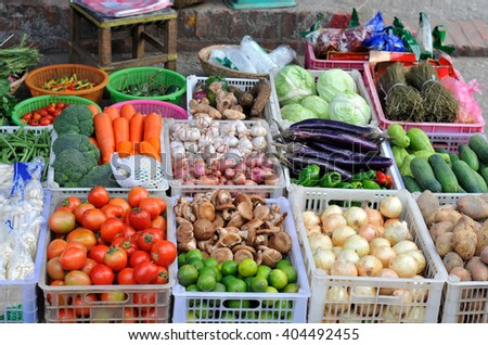 Fresh vegetables at the market
