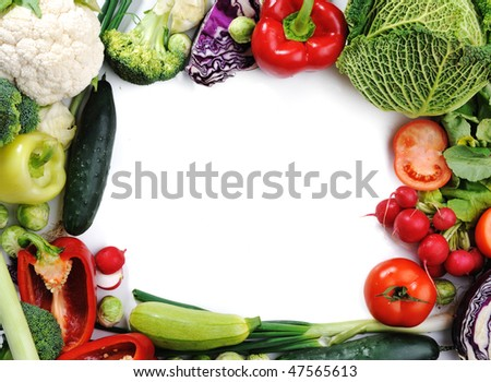 Fresh vegetables, banner for your text - stock photo
