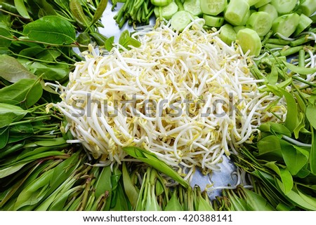 Fresh vegetables:Close up,select focus with shallow depth of field. - stock photo