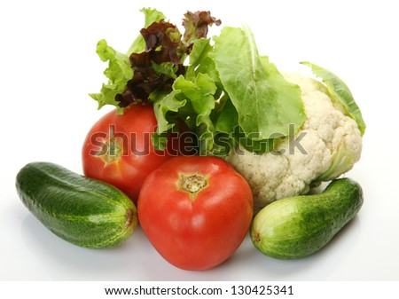 Fresh vegetables for a dietary feed