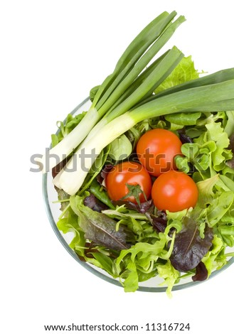 fresh vegetables for a healthy salad