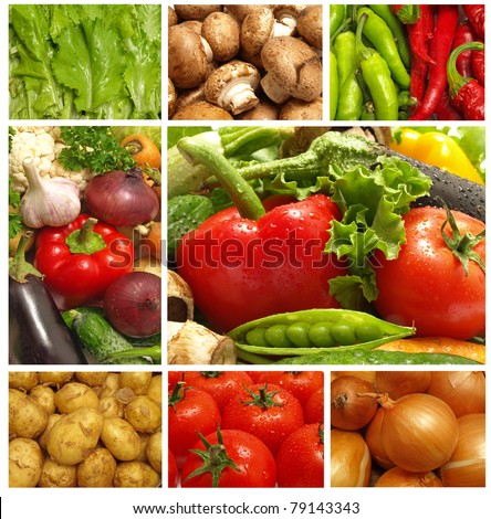 Fresh vegetables for all tastes - stock photo
