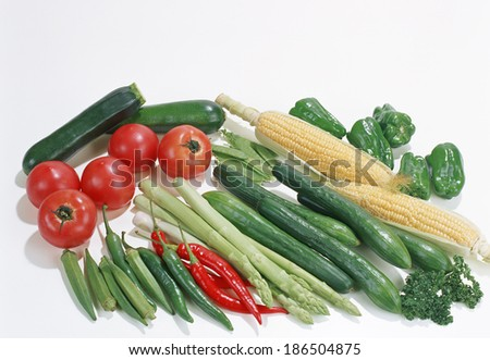 Fresh Vegetables, Fruits - stock photo