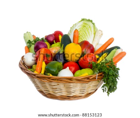 Fresh vegetables in the basket