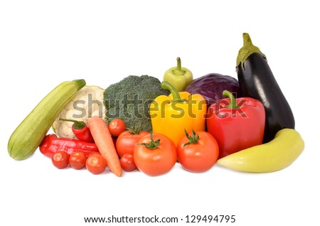 Fresh vegetables mix - stock photo