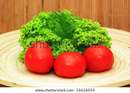 Fresh vegetables on platter