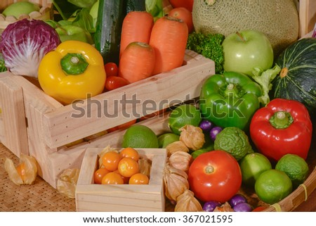 Fresh vegetables organic for healthy
