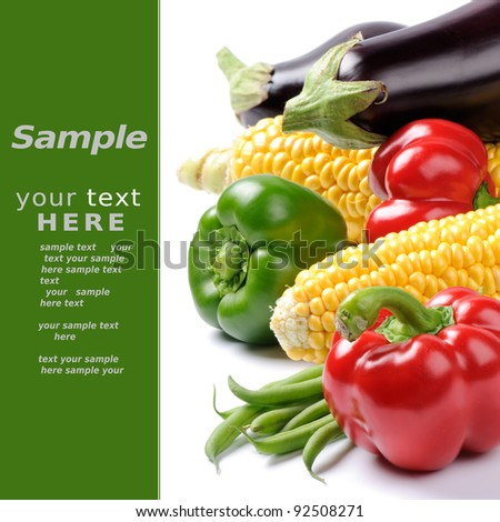 Fresh vegetables over white - stock photo