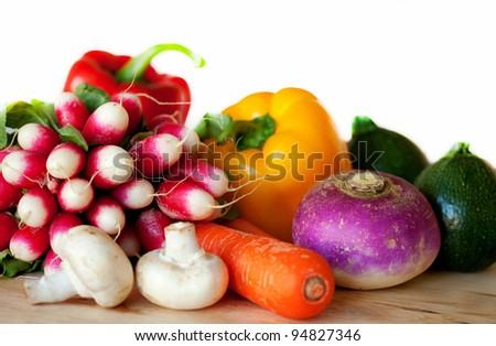 Fresh vegetables ready for cooking