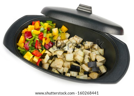 Fresh vegetables ready to be cooked - stock photo