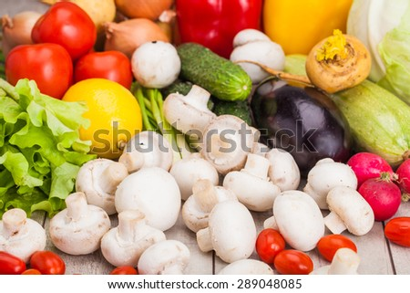 Fresh Vegetables, Shot in a studio. - stock photo
