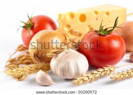 fresh vegetables with cheese